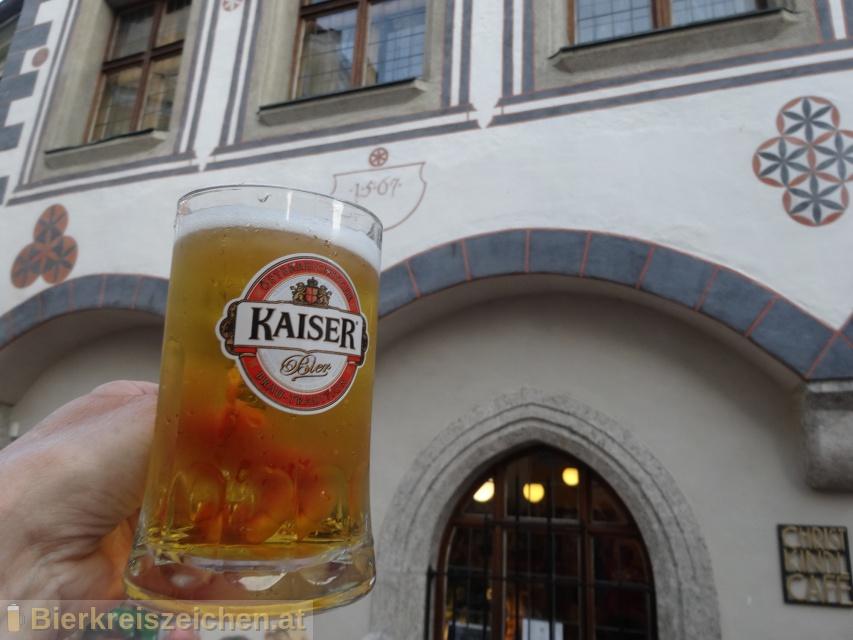 Foto eines Bieres der Marke Kaiser Goldquell aus der Brauerei Brauerei Wieselburg