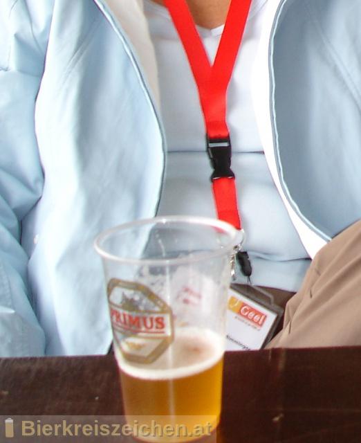 Foto eines Bieres der Marke Primus aus der Brauerei Haacht Brewery plc