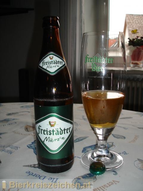 Foto eines Bieres der Marke Freistädter März`n aus der Brauerei Braucommune in Freistadt