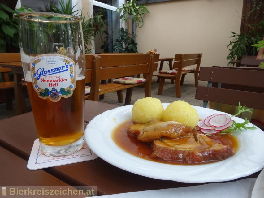 Foto eines Bieres der Marke Glossner Vollbier Hell aus der Brauerei Glossnerbräu