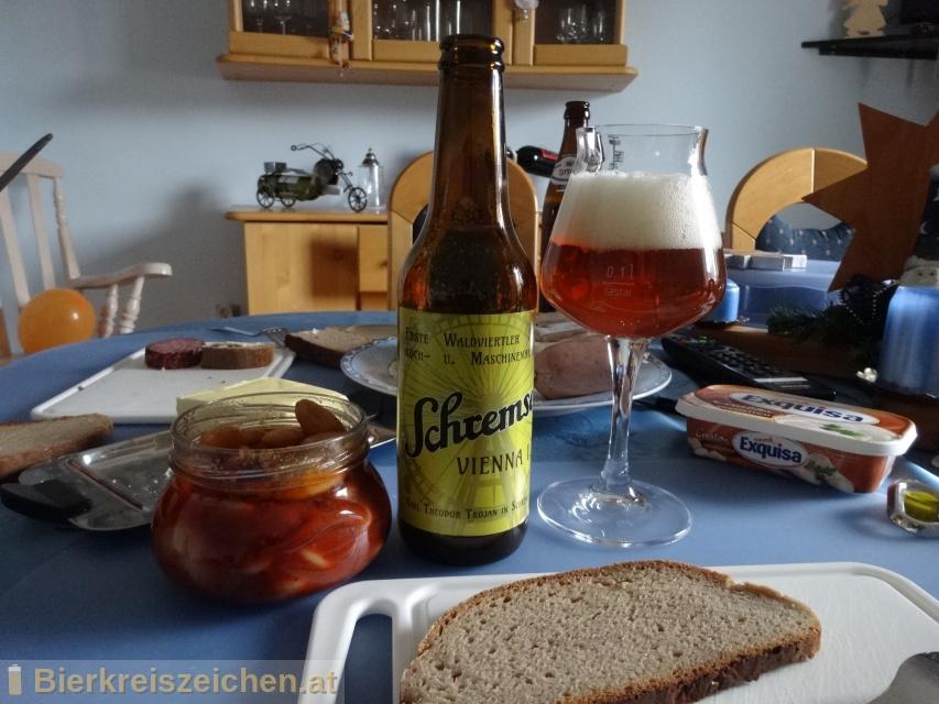 Foto eines Bieres der Marke Schremser Vienna I.P. aus der Brauerei Brauerei Schrems