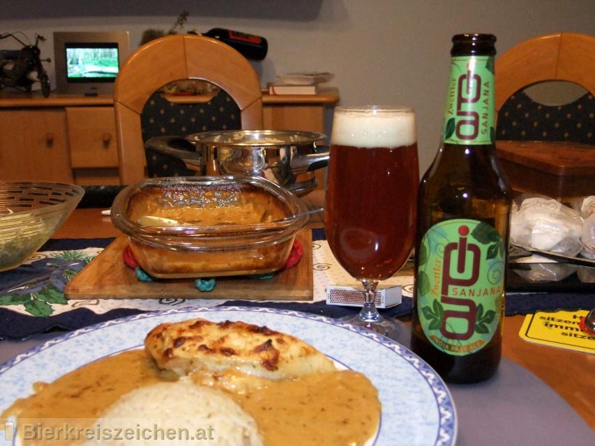 Foto eines Bieres der Marke Zwettler Sanjana aus der Brauerei Privatbrauerei Zwettl