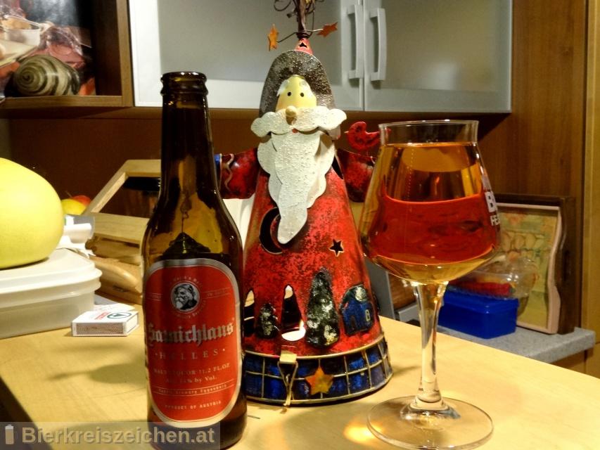 Foto eines Bieres der Marke Schloss Eggenberg - Samichlaus Helles aus der Brauerei Brauerei Schloss Eggenberg