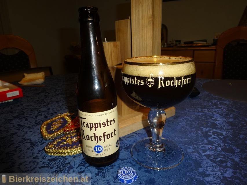 Foto eines Bieres der Marke Rochefort Trappistes 10 aus der Brauerei Trappistenbrauerei Rochefort