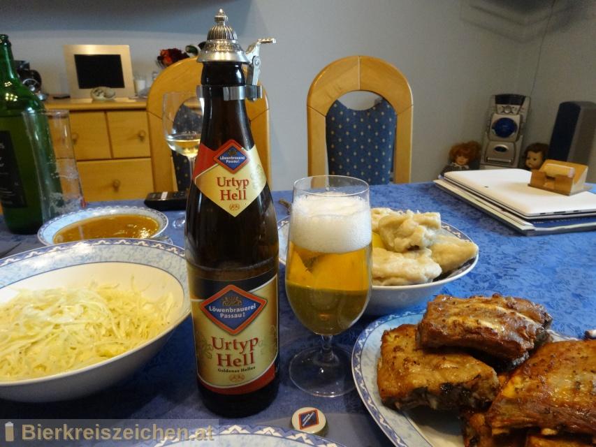 Foto eines Bieres der Marke Urtyp hell aus der Brauerei Löwenbrauerei Passau