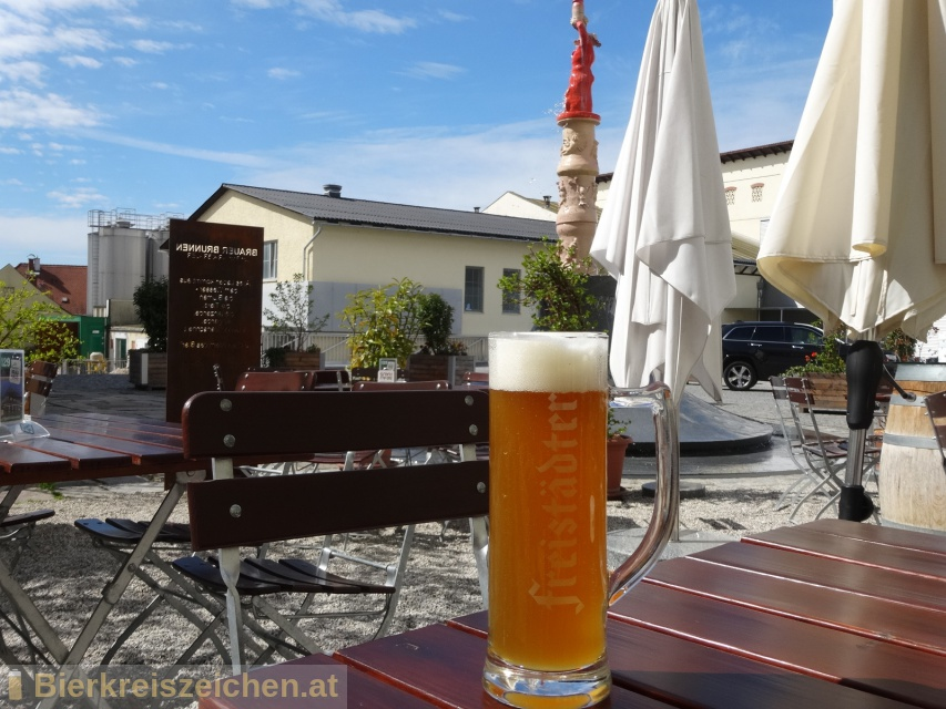 Foto eines Bieres der Marke Freistädter Bio Zwickl aus der Brauerei Braucommune in Freistadt