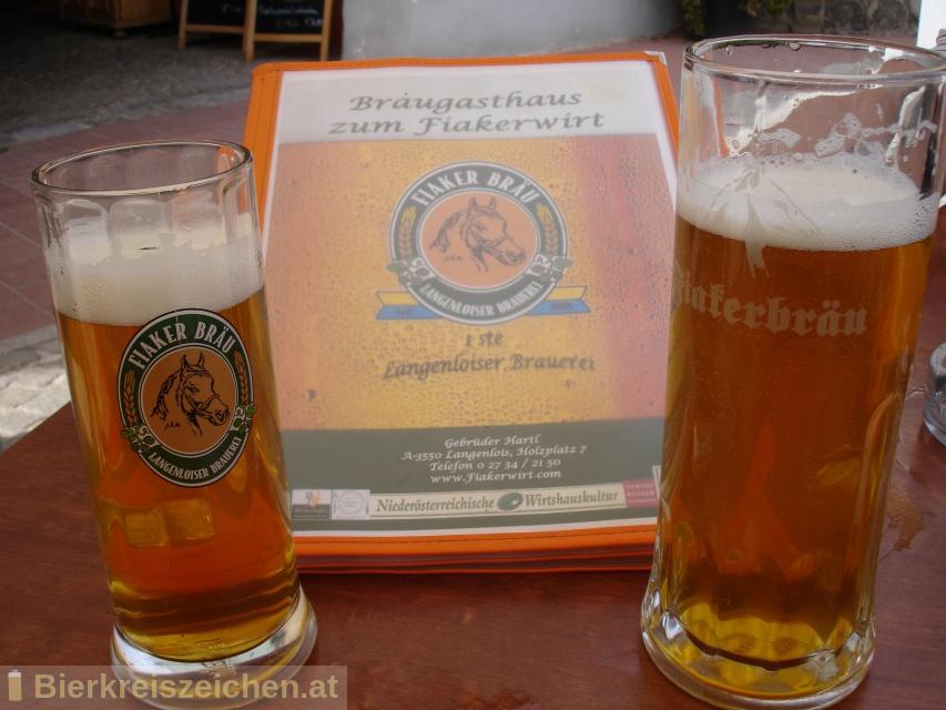 Foto eines Bieres der Marke Fiakerbräu Pils aus der Brauerei Fiakerbräu