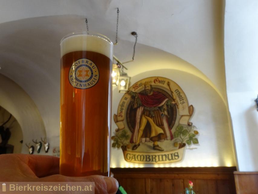 Foto eines Bieres der Marke 1475 Pale Ale aus der Brauerei Hofbräu Kaltenhausen