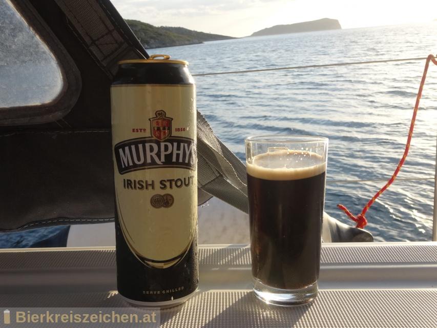 Foto eines Bieres der Marke Murphy's Irish Stout aus der Brauerei Murphy Brewery Ireland