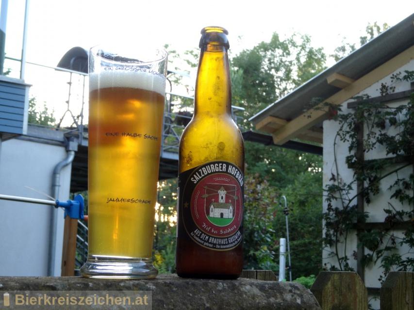 Foto eines Bieres der Marke Salzburger Hofbräu aus der Brauerei Brauerei Gusswerk