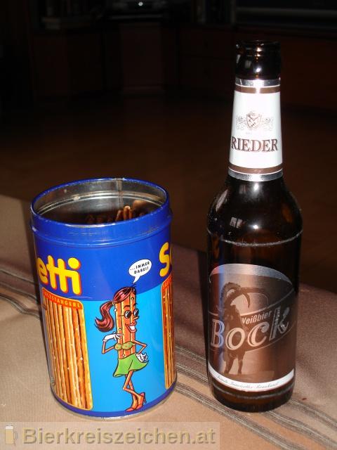 Foto eines Bieres der Marke Rieder Weißbierbock aus der Brauerei Brauerei Ried