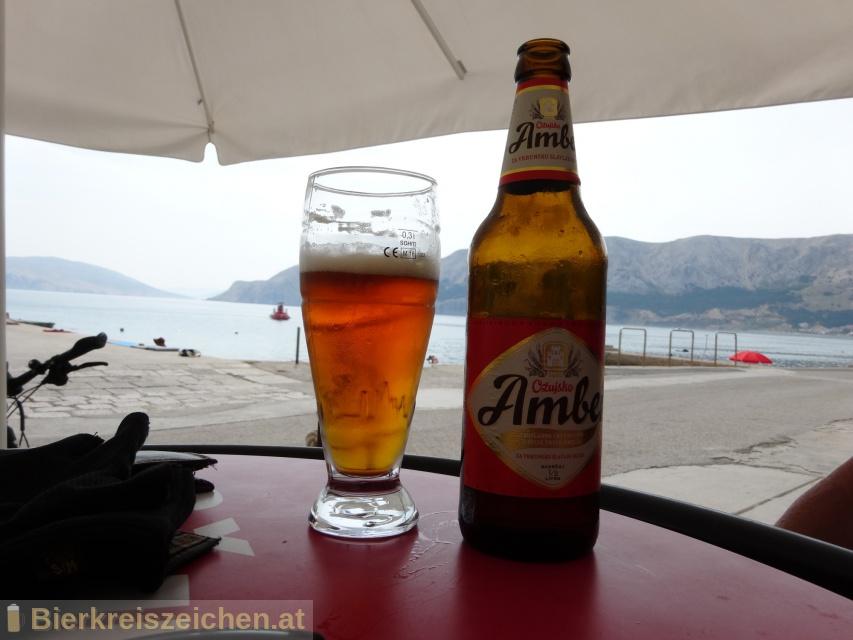 Foto eines Bieres der Marke Ožujsko Amber 120 aus der Brauerei Zagrebačka pivovara