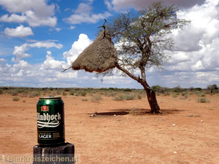 Foto eines Bieres der Marke Windhoeck Premium Lager aus der Brauerei Namibia Breweries