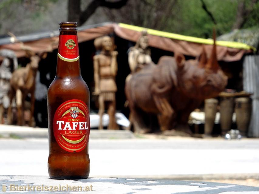 Foto eines Bieres der Marke Tafel Lager aus der Brauerei Namibia Breweries