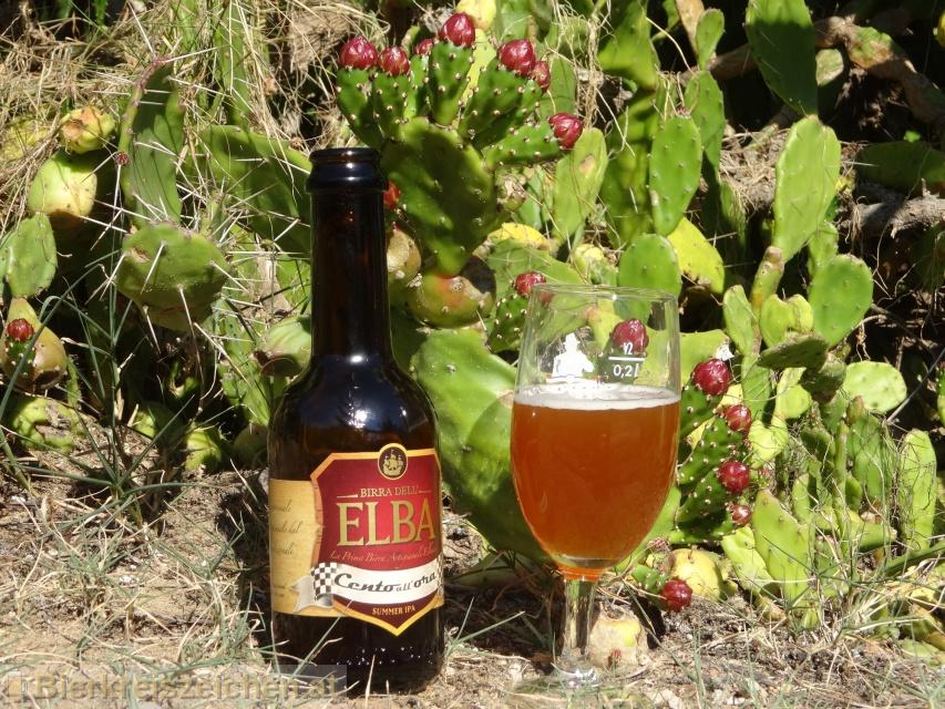 Foto eines Bieres der Marke Cento all ora (Summer IPA) aus der Brauerei Birra dell'Elba