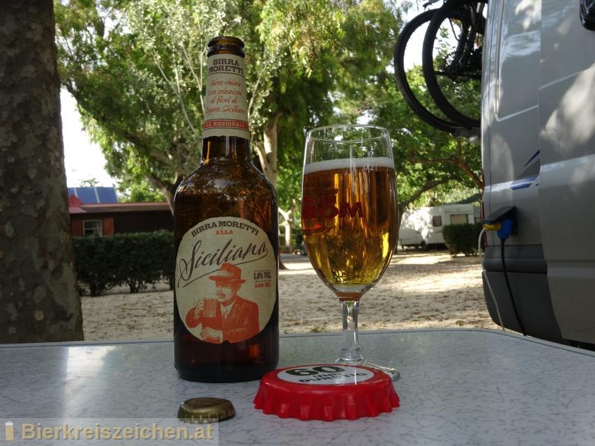 Foto eines Bieres der Marke Siciliana aus der Brauerei Birra Moretti