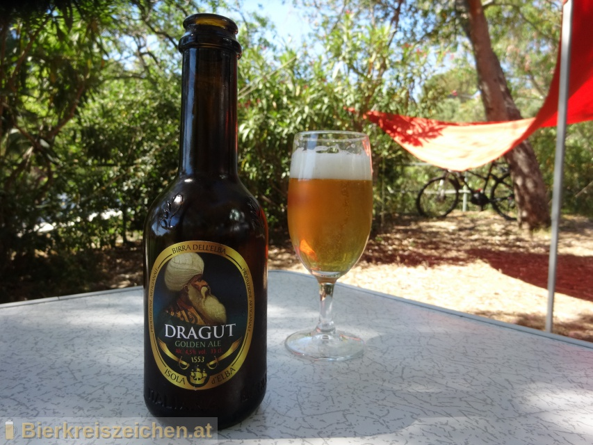 Foto eines Bieres der Marke Dragut (Golden Ale) aus der Brauerei Birra dell'Elba