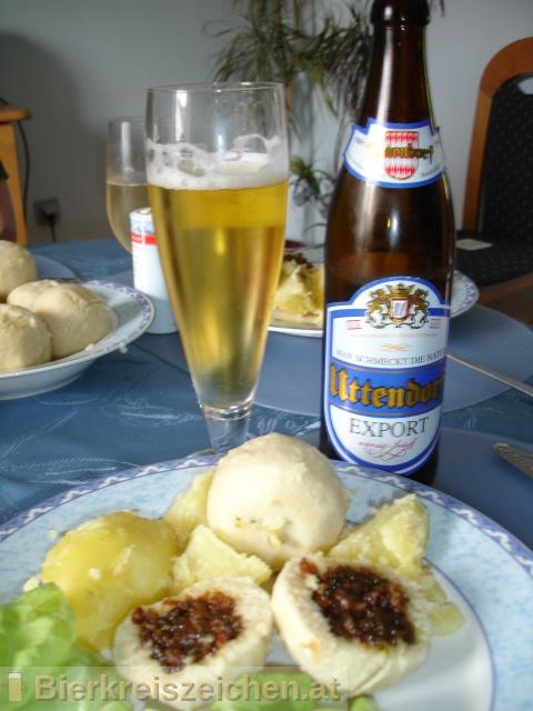 Foto eines Bieres der Marke Uttendorfer Exportbier aus der Brauerei Brauerei Vitzthum