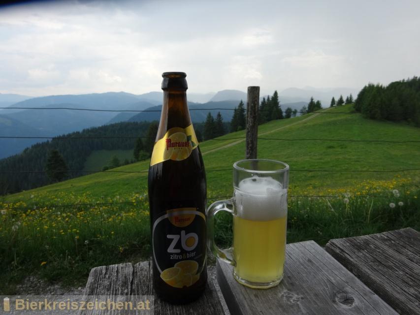 Foto eines Bieres der Marke Murauer zb - zitro&bier aus der Brauerei Brauerei Murau