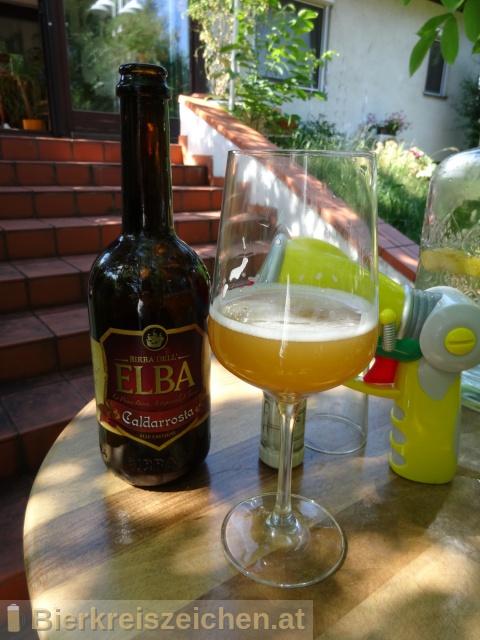 Foto eines Bieres der Marke Caldarrosta (Alle Castagne) aus der Brauerei Birra dell'Elba