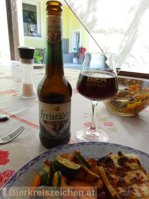 Foto eines Bieres der Marke Freistädter Pegasus aus der Brauerei Braucommune in Freistadt