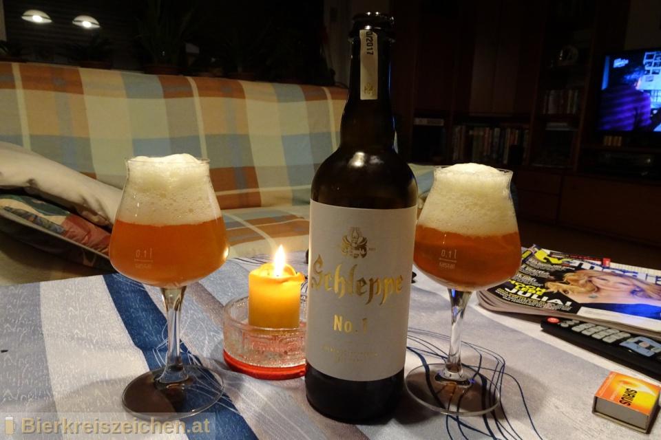Foto eines Bieres der Marke Schleppe No. 1 aus der Brauerei Schleppe Brauerei