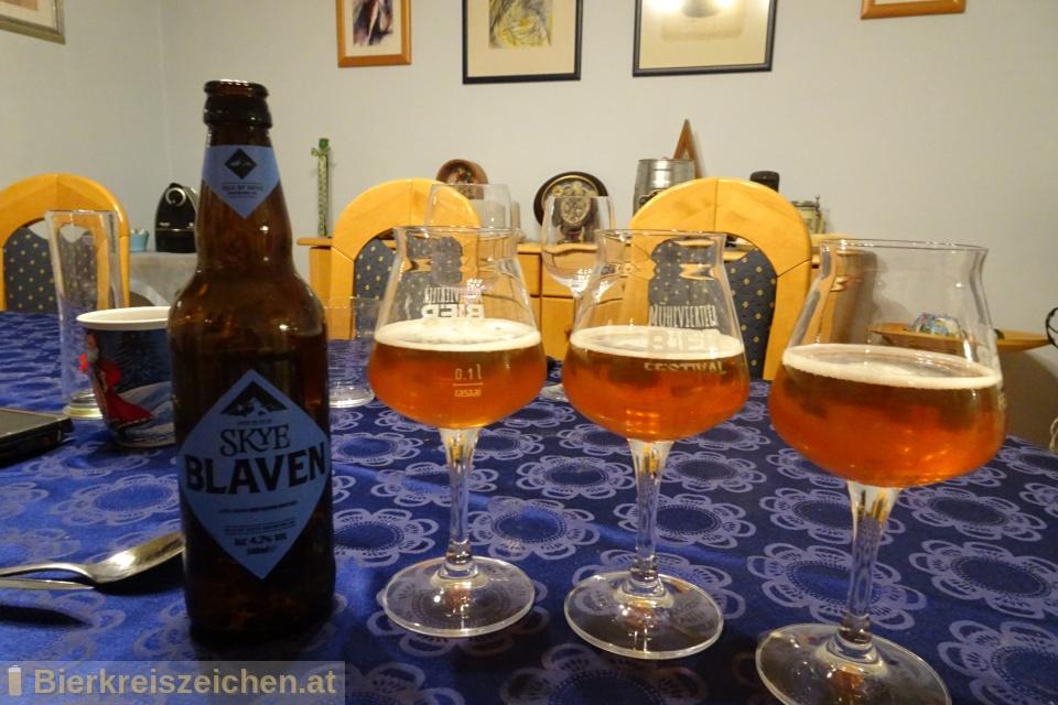 Foto eines Bieres der Marke Skye Blaven aus der Brauerei Isle of Skye Brewing