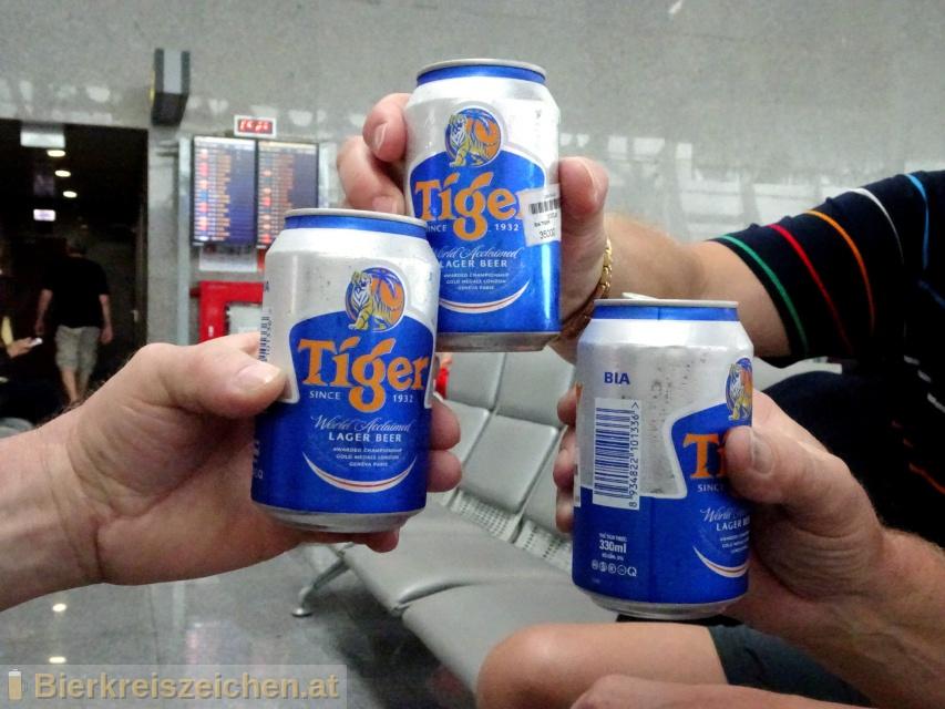 Foto eines Bieres der Marke Tiger Beer aus der Brauerei Heineken Asia Pacific