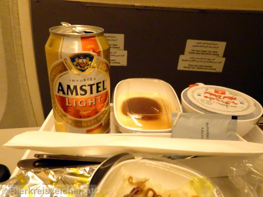 Foto eines Bieres der Marke Amstel Light aus der Brauerei Heineken