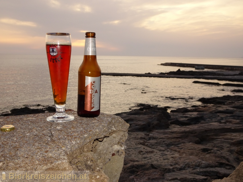 Foto eines Bieres der Marke Hirter Copper IPA aus der Brauerei Brauerei Hirt