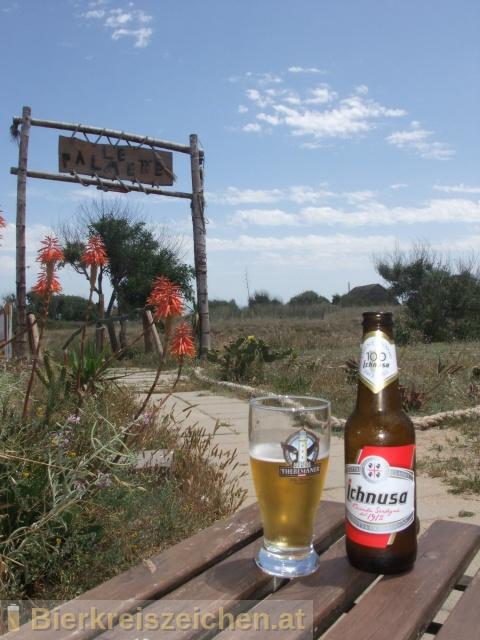Foto eines Bieres der Marke Birra Ichnusa aus der Brauerei Birra Ichnusa