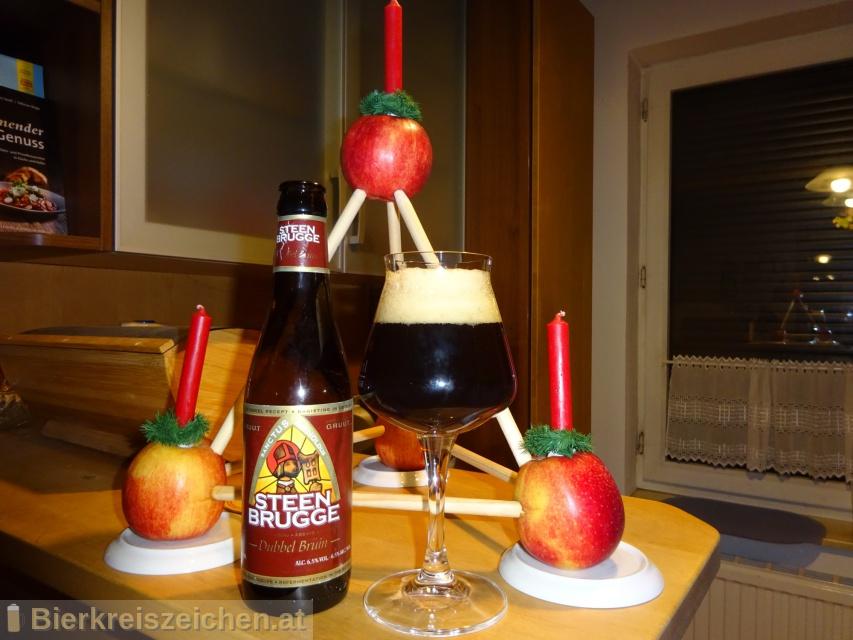Foto eines Bieres der Marke Steenbrugge Dubbel Bruin aus der Brauerei PALM Breweries