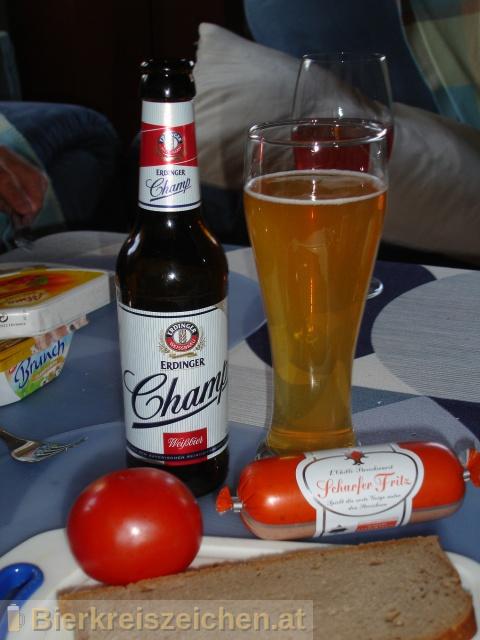 Foto eines Bieres der Marke Erdinger Champ aus der Brauerei Erdinger