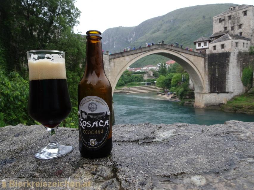 Foto eines Bieres der Marke Kosača aus der Brauerei Hercegovačka pivovara