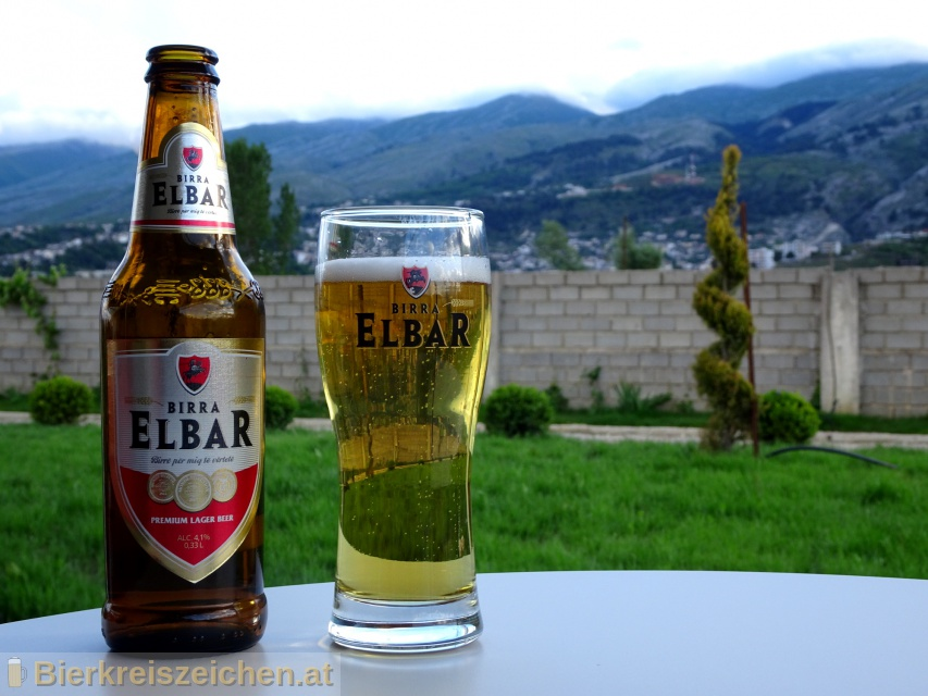 Foto eines Bieres der Marke Birra Elbar aus der Brauerei ALFA Sh.a