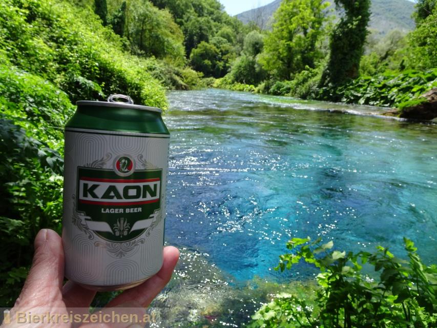 Foto eines Bieres der Marke Kaon Lager aus der Brauerei Birra Kaon