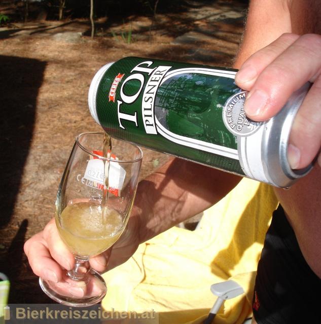 Foto eines Bieres der Marke Ceres Top Pilsner aus der Brauerei Ceres Bryggerierne A/S