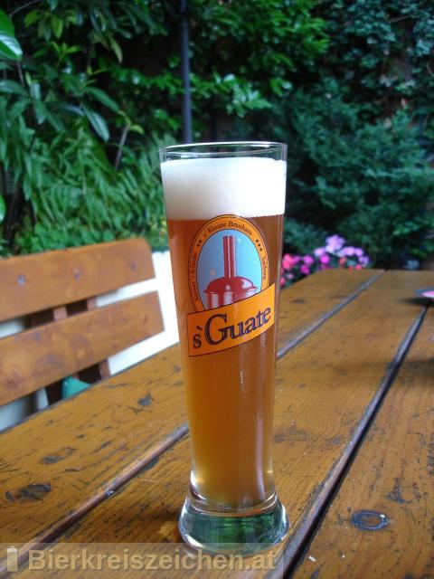 Foto eines Bieres der Marke s`Guate Weiße aus der Brauerei s'Kloane Brauhaus