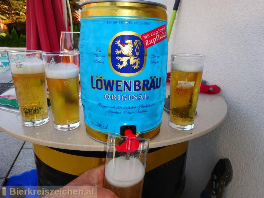 Foto eines Bieres der Marke Löwenbräu Original aus der Brauerei Löwenbräu