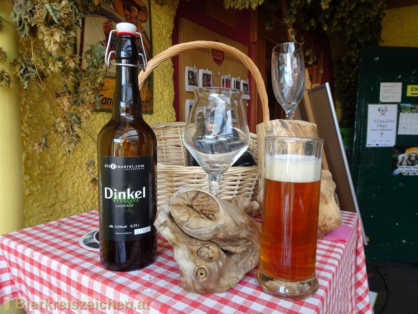 Foto eines Bieres der Marke Dinkel Weizen aus der Brauerei diebrauerei Leutschach GmbH