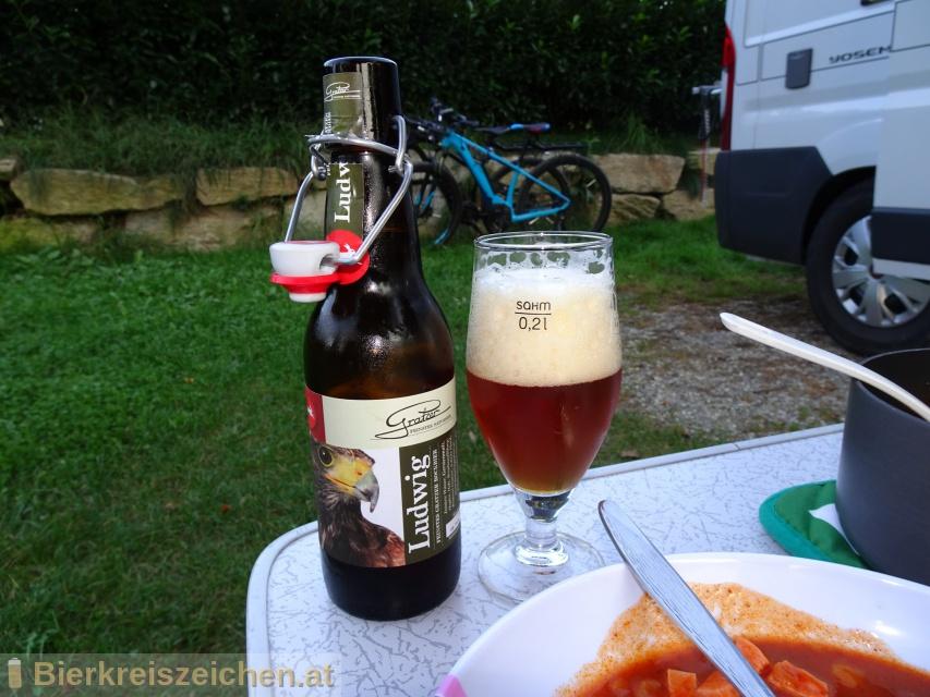 Foto eines Bieres der Marke Ludwig aus der Brauerei Brauerei Gratzer