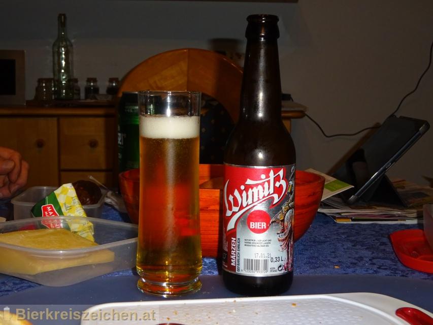 Foto eines Bieres der Marke Wimitzer Märzen aus der Brauerei Wimitzbräu