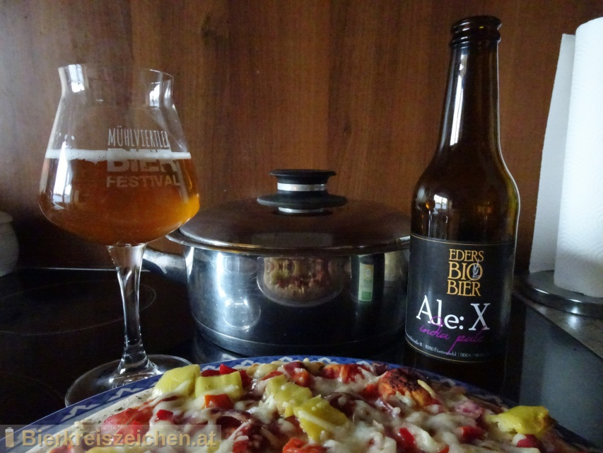 Foto eines Bieres der Marke Eders Bio Ale X aus der Brauerei Hofbrauerei Eder