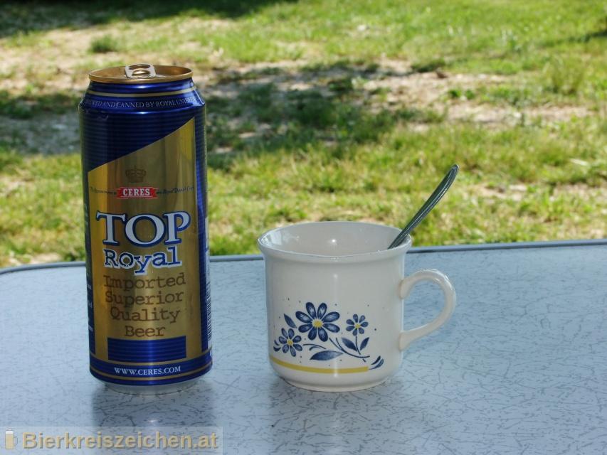Foto eines Bieres der Marke Ceres Top Royal aus der Brauerei Ceres Bryggerierne A/S