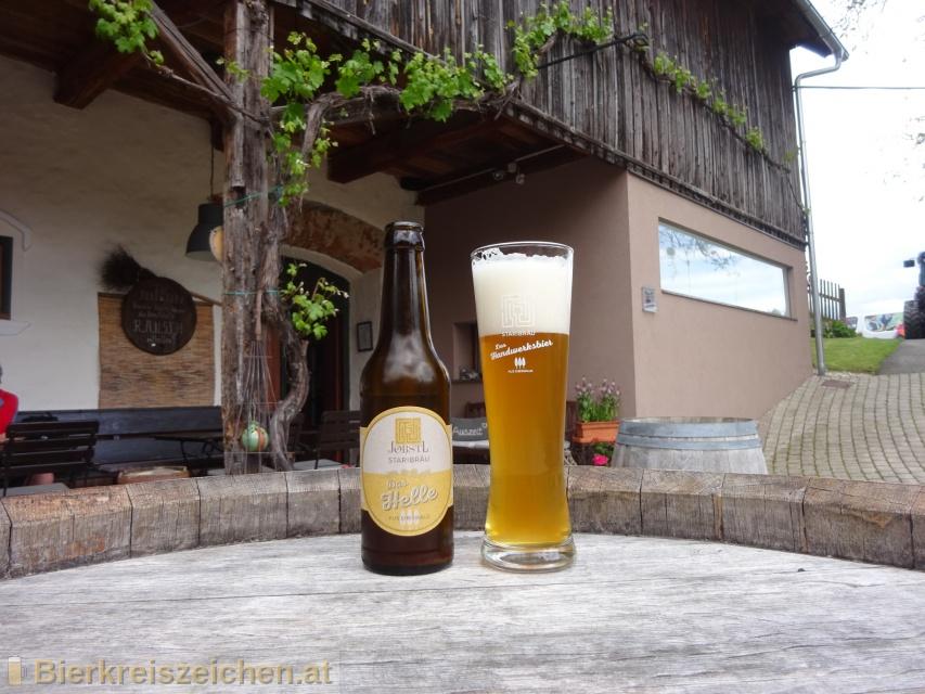 Foto eines Bieres der Marke das Helle aus Eibiswald aus der Brauerei Jöbstl Staribräu