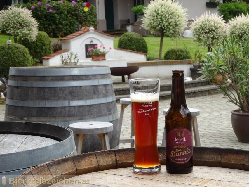 Foto eines Bieres der Marke das Dunkle aus Eibiswald  aus der Brauerei Jöbst Staribräu