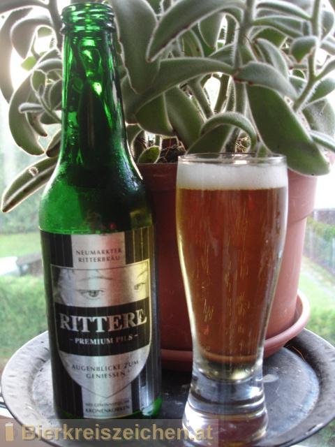 Foto eines Bieres der Marke Ritterl Premium Pils aus der Brauerei Ritterbräu Neumarkt
