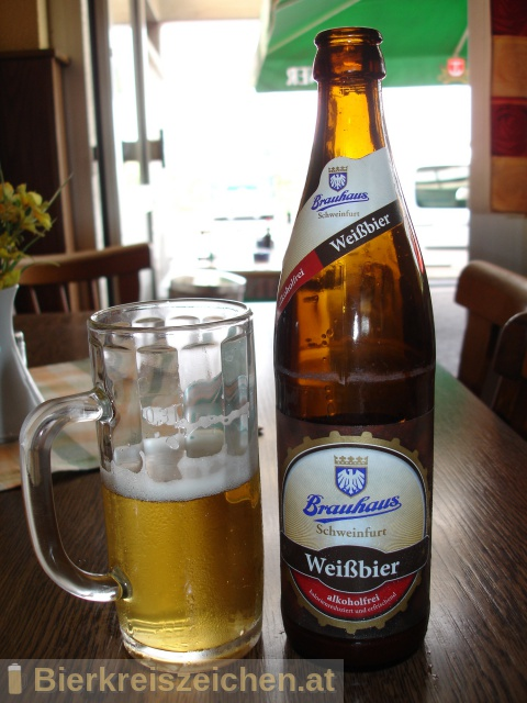 Foto eines Bieres der Marke Brauhaus Schweinfurt Weißbier alkoholfrei aus der Brauerei Brauhaus Schweinfurt GmbH