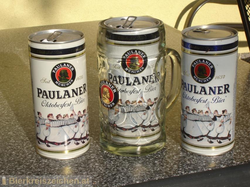 Foto eines Bieres der Marke Oktoberfest Bier aus der Brauerei Paulaner Brauerei