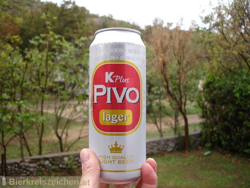 Foto eines Bieres der Marke K Plus Pivo Lager aus der Brauerei Istarska Pivovara